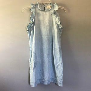 Cloth & Stone Chambray Ruffle Dress